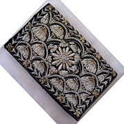 SALE Made in India Metallic Embroidered Clutch Purse