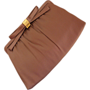 SALE After Five Taupe Bow Clutch Purse