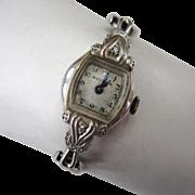 SALE Circa 1952 Bulova 10K Gold-Filled Diamond Watch