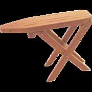 Doll House furniture vintage miniature wood folding ironing board 12:1 size