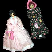 """REDUCED 8 1/2"""" Ozark wooden dolls"""