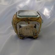 Napoleon III Beveled Glass and Ormolu Box