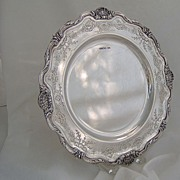 1935 English Ornate Sterling Charger Mappin & Webb