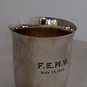 1955 Georg Jensen Hammered cup
