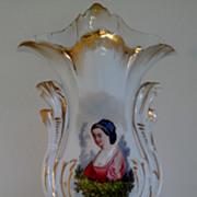 """SALE 19th century French , Old Paris Portrait Vase 11 1/8"""""""
