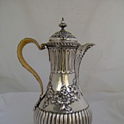 1769 English Large Repousse Sterling Covered Jug