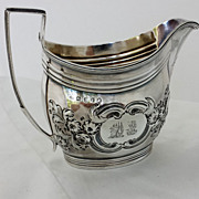 Georgian 1801 Sterling Cream Pitcher