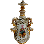 French Large Porcelain Scent Bottle in the style of Jacob Petite