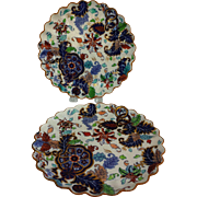 Pair of 1867 Tobacco Leaf Plates by Copeland