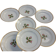 1865 French Haviland Small Bowls, Set of 7