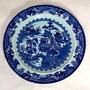 SALE c.1840 Ornate English Ironstone Dinner Plate