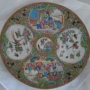 Superb Antique Chinese Rose Medallion Charger