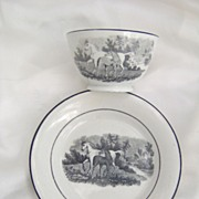 SALE 1810 English Tea Bowl and Saucer Horse and Colt