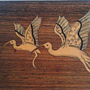 Rosewood Inlaid Box  Flying Ibis