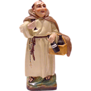 French Old Paris Personnage Figural Veilleuse Demitasse Teapot on Warming Stand Capuchin Monk