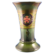 SALE Royal Bonn Tube-Lined Arts & Crafts Trumpet Vase (c.1890-1923)