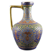 "SALE Royal Bonn Islamic Motif  ""Kashmir"" Tapestry Pitcher/Ewer (c. 1890's)"
