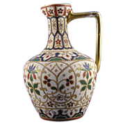 "SALE Royal Bonn Islamic Motif  ""Jaypora"" Tapestry Pitcher/Ewer (c. 1890's)"
