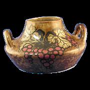 Stellmacher Teplitz Amphora Grape Motif Pottery Handled Vase (c.1905-1910)