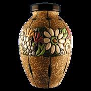 SALE Austrian Amphora Arts & Crafts Floral Band Vase (c.1900-1905)
