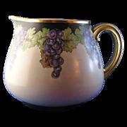 T&V Limoges Grape Motif Pitcher (Signed/c.1892-1907)