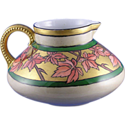 SALE Jean Pouyat (JP) Limoges Arts & Crafts Maple Leaf Motif Pitcher (c.1890-1932)
