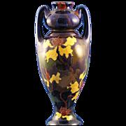 Austrian Old Moravian Pottery Handled Arts & Crafts Vase (c.1899-1918)