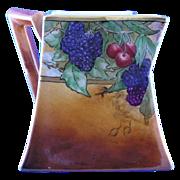 "Bernardaud &Co. (B&Co.) Limoges Autumn Fruit Motif Pitcher (Signed ""N. Spera""/c.1900"