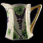SALE Bavarian Arts & Crafts Grape Motif Pitcher (c.1900-1930)