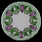 SALE Jean Pouyat (JP) Limoges Floral & Vine Motif Plate (c.1890-1932)