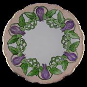 Moritz Zdekauer (MZ) Austria Floral & Vine Motif Plate (c.1884-1909)