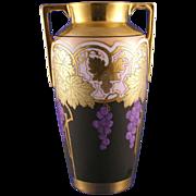 SALE Heinrich & Co. (H&Co) Bavaria Art Nouveau Grape Motif Osborne Art Studio Vase (Signed ...