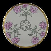 "SALE Haviland Limoges Art Nouveau Carnation Motif Plate (Signed ""Bessie Rutledge""/c."