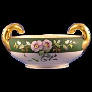 SALE Stouffer Studios Bavarian Rose Motif Handled Bowl (c.1906-1914)