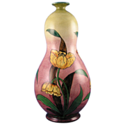 SALE Royal Bonn Germany Old Dutch Tulip Motif Vase (c.1890-1923)