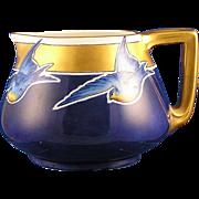 "SALE Bernardaud & Co. (B&Co) Limoges Blue Bird Motif Pitcher (Signed ""Sandwich""/c.19"
