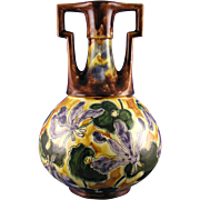 "SALE Ernst Wahliss ""Habsburg Crown China"" Arts & Crafts Floral Vase (c.1903-1910)"