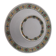 Moritz Zdekauer (MZ) Austria Celtic Design Tiered Serving Plate (c.1884-1909)