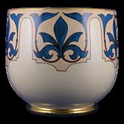 """William Guerin & Co. (WG&Co.) Limoges Fleur de Lis Motif Vase/Jardinière (Signed """"Nazare"""