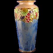 SALE Royal Doulton Arts & Crafts Fruit Motif Vase (Signed/c.1923-1927)