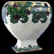 Ernst Wahliss Amphora Austria Enameled Floral Vase (c.1899-1910)