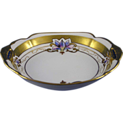SALE Pickard Studios Noritake Nippon Floral Motif Handled Dish (c.1905-1910)