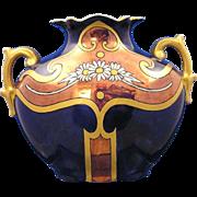 SALE PH Leonard Austria Art Deco Copper Lustre Daisy Motif Vase (c.1890-1908)