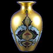 """SALE Art Nouveau Gold Floral Motif Vase (Signed """"M.L. Leary""""/Dated 1901)"""