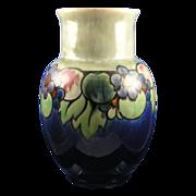 "SALE Large Royal Doulton Arts & Crafts Fruit Motif Vase (Signed ""Maud Bowden""/c."