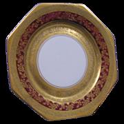 Julius Brauer Studio Czechoslovakian Red & Gold Plate (c.1910-1916)