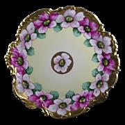 SALE Plainemaison Limoges Edward W. Donath Studio Floral Motif Plate (c.1910-1915)
