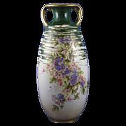 SALE Large RStK Amphora Austria Art Nouveau Floral Motif Vase (c.1899-1910)