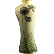 Amphora Austria Ernst Wahliss Arts & Crafts Blue & Green Floral Vase (c.1900-1918)
