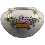 """William Guerin & Co. (WG&Co.) Limoges Arts & Crafts Floral Motif Vase/Cachepot (Signed """"G"""